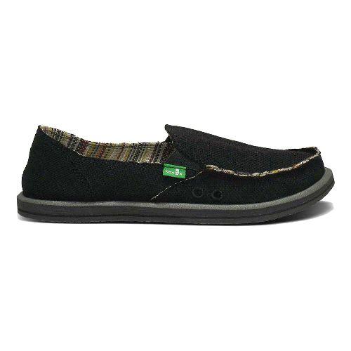 Womens Sanuk Donna Hemp Casual Shoe - Black 7