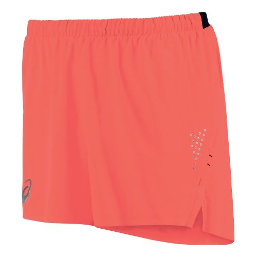 Mens ASICS Top Impact Woven Lined Shorts - Flame S