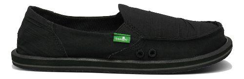 Womens Sanuk Shuffle Casual Shoe - Black 7