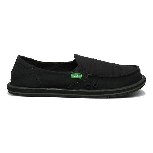 Womens Sanuk Shuffle Casual Shoe - Black 6