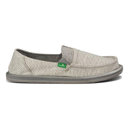 Womens Sanuk Pick Pocket Tee Casual Shoe - White Stripes 6