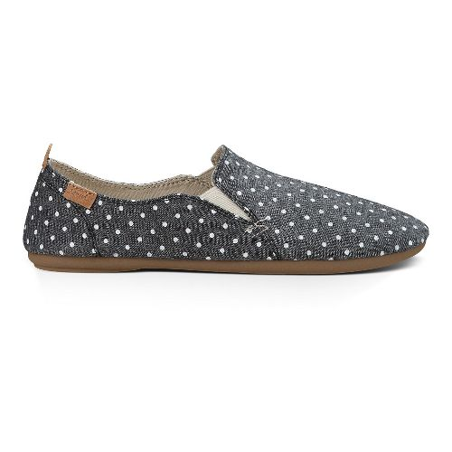 Womens Sanuk Isabel Prints Casual Shoe - Black/White Dots 6