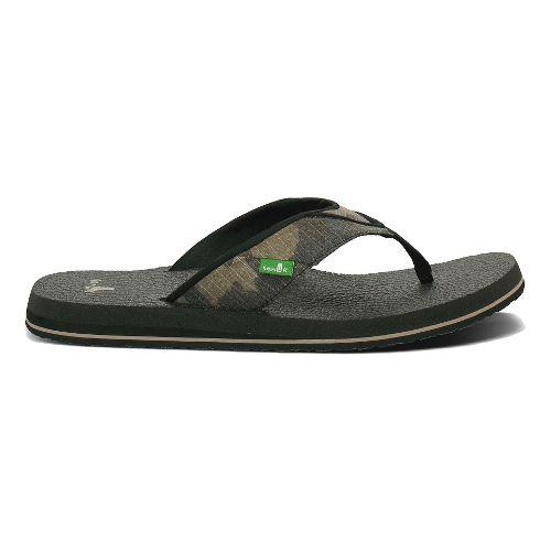 Mens Sanuk Beer Cozy Sandals Shoe - Camouflage 13