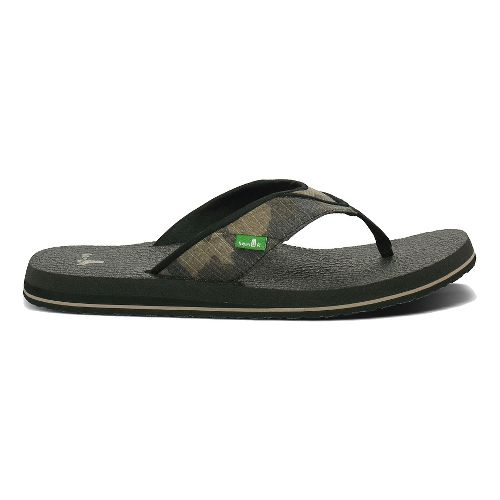 Mens Sanuk Beer Cozy Sandals Shoe - Camouflage 8