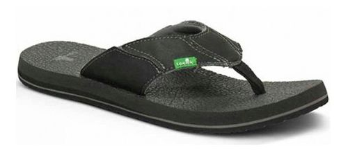 Mens Sanuk Fault Line Sandals Shoe - Charcoal 14