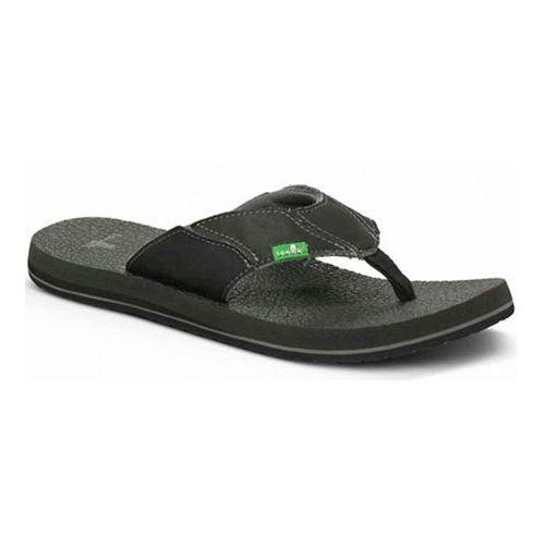Mens Sanuk Fault Line Sandals Shoe - Charcoal 7
