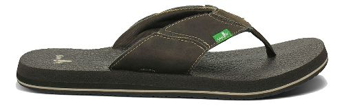Mens Sanuk Fault Line Sandals Shoe - Charcoal 9