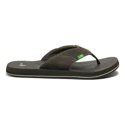 Mens Sanuk Fault Line Sandals Shoe - Charcoal 9