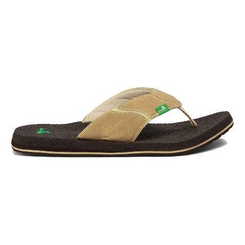 Mens Sanuk Fault Line Sandals Shoe - Tan/Brown 13