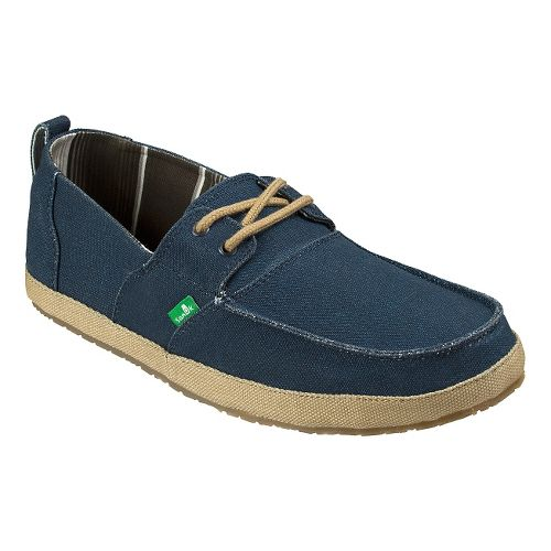 Mens Sanuk Admiral Casual Shoe - Navy/Tan 9
