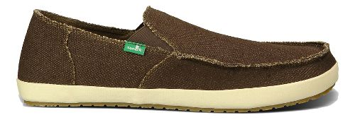 Mens Sanuk Rounder Hobo Casual Shoe - Dark Brown 8