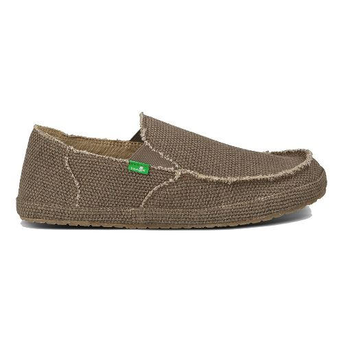 Mens Sanuk Rounder Casual Shoe - Brown 12
