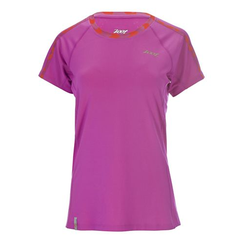 Womens Zoot Chill Out Tee Short Sleeve Technical Tops - Passion Fruit L