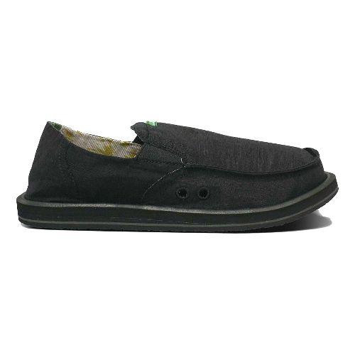 Mens Sanuk Pick Pocket Casual Shoe - Black Chambray 7
