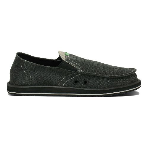 Mens Sanuk Pick Pocket Casual Shoe - Black Chambray 9