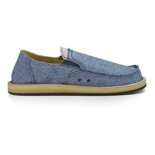 Mens Sanuk Pick Pocket Casual Shoe - Blue Chambray 11