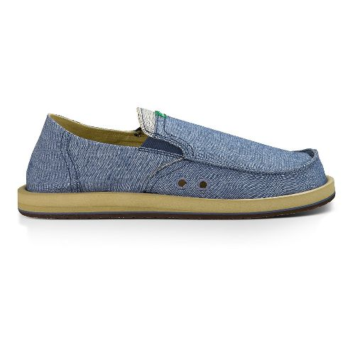 Mens Sanuk Pick Pocket Casual Shoe - Blue Chambray 14