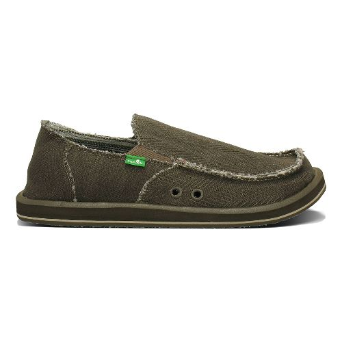 Mens Sanuk Hemp Casual Shoe - Olive 12