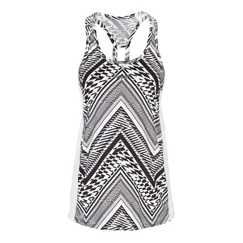 Womens Zoot West Coast Singlet Sleeveless & Tank Technical Tops - White Tribal S