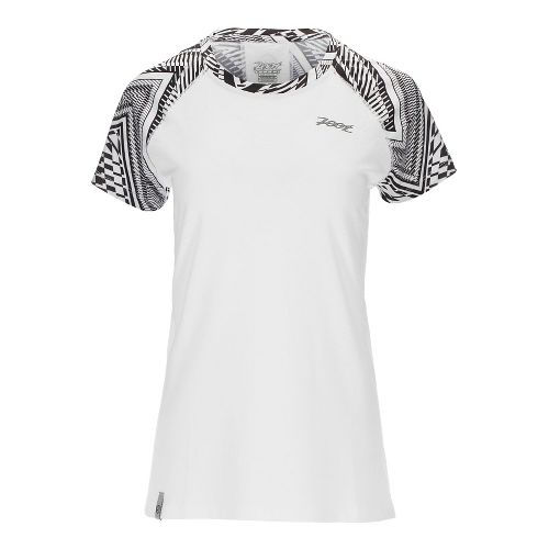 Womens Zoot West Coast Tee Short Sleeve Technical Tops - White Tribal M