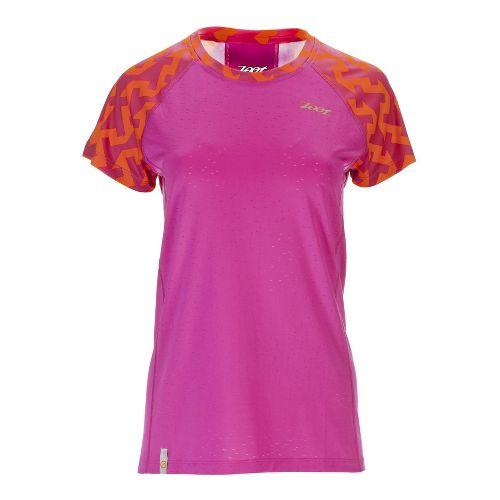 Womens Zoot West Coast Tee Short Sleeve Technical Tops - Geo XL