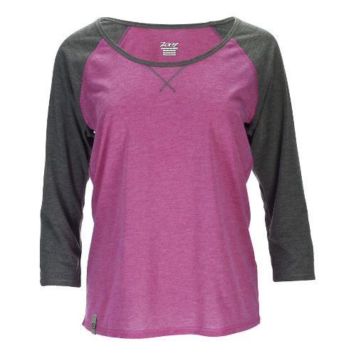 Womens Zoot Sunset 3/4 Tee Long Sleeve Technical Tops - Passion Fruit XS