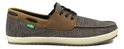 Mens Sanuk Casa Barco Vintage Casual Shoe - Black 7