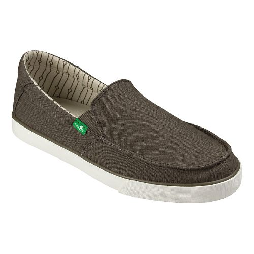 Mens Sanuk Sideline Casual Shoe - Brown/Marshmallow 8