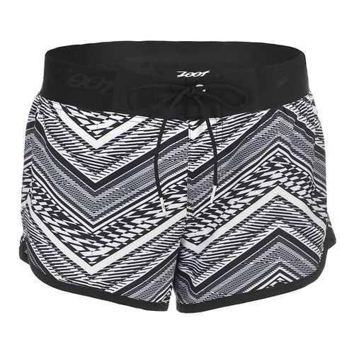 Womens Zoot Board 3 Inch Lined Shorts - White Tribal M