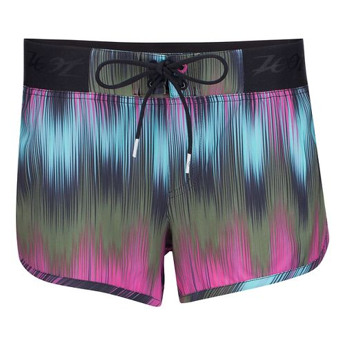 Womens Zoot Board 3 Inch Lined Shorts - Good Vibes M
