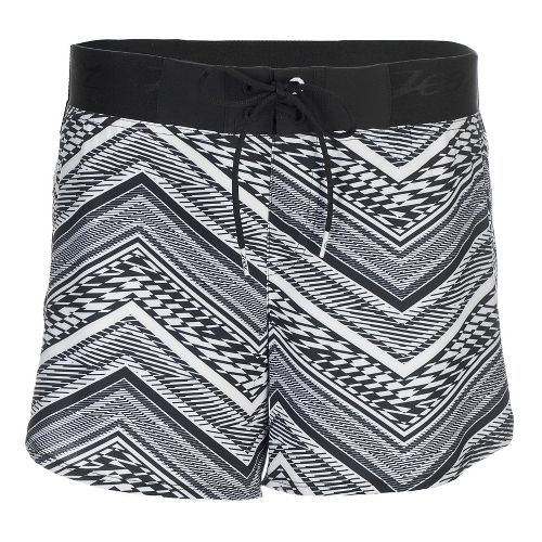 Womens Zoot Board 5 Inch Lined Shorts - White Tribal L