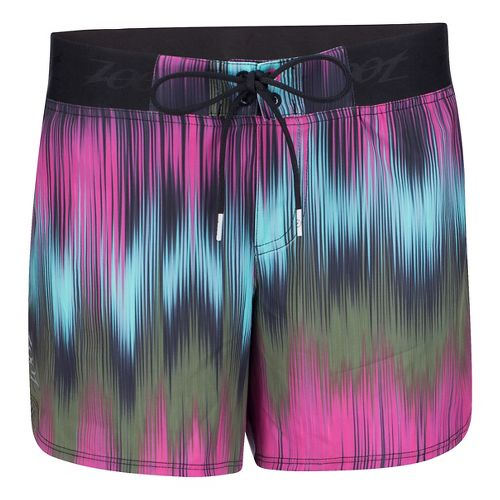 Womens Zoot Board 5 Inch Lined Shorts - Good Vibes XL