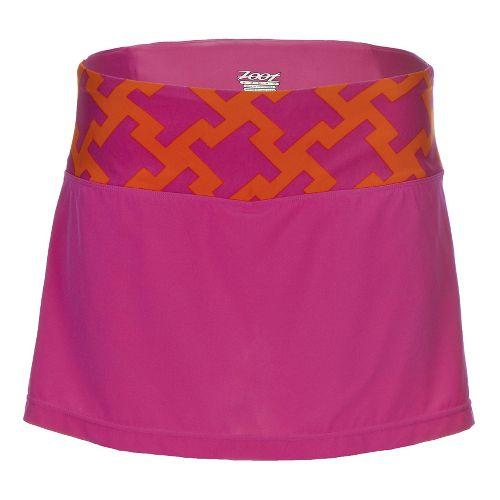 Womens Zoot PCH Skorts Fitness Skirts - Geo L