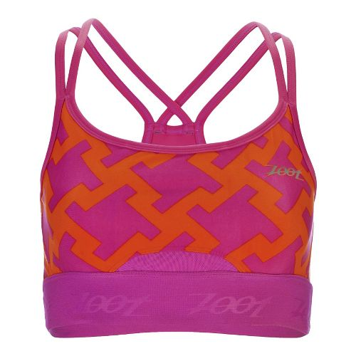 Womens Zoot Moonlight Racerback Sports Bras - Geo XL