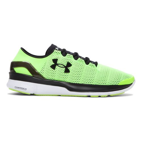 Mens Under Armour Speedform Apollo 2 Running Shoe - Fuel Green/White 7.5