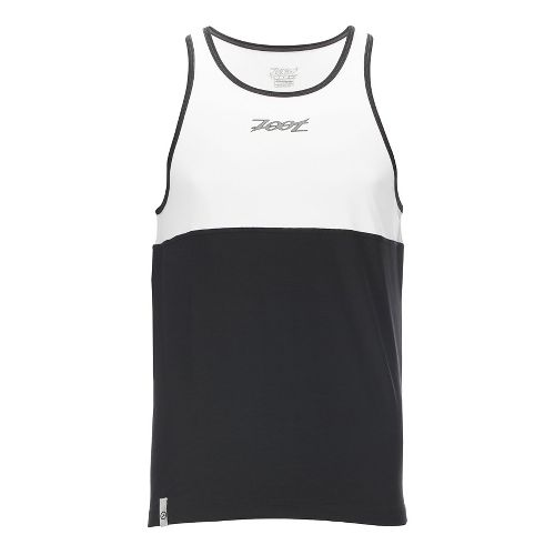 Mens Zoot Chill Out Singlet Sleeveless & Tank Technical Tops - White/Black XL