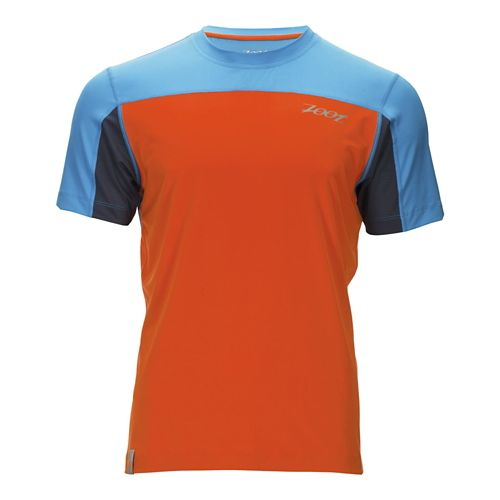 Mens Zoot Chill Out Tee Short Sleeve Technical Tops - Deep Sky/Mandarin L