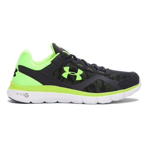 Mens Under Armour Micro G Velocity RN GR Running Shoe - Anthracite/White 11