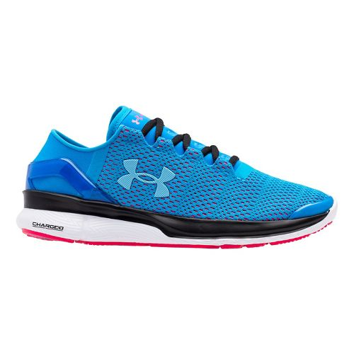 Womens Under Armour Speedform Apollo 2 Running Shoe - Dynamo Blue/Red 7