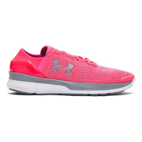 Womens Under Armour Speedform Apollo 2 Running Shoe - Harmony Red/White 10