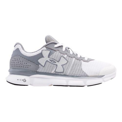 Womens Under Armour Micro G Speed Swift Running Shoe - Steel/White 11