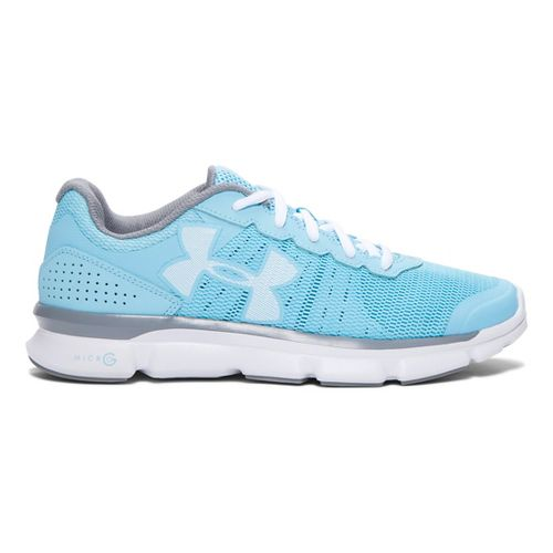 Womens Under Armour Micro G Speed Swift Running Shoe - Sky Blue/White 7.5