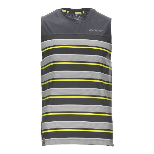 Mens Zoot West Coast Tee Sleeveless & Tank Technical Tops - Slate/Pure Yellow L
