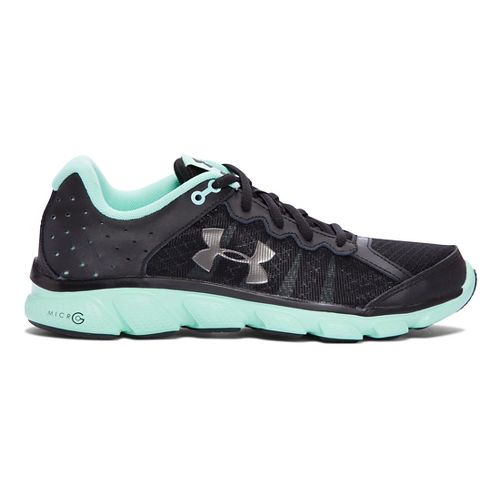 Womens Under Armour Micro G Assert 6 Running Shoe - Black/Crystal 5