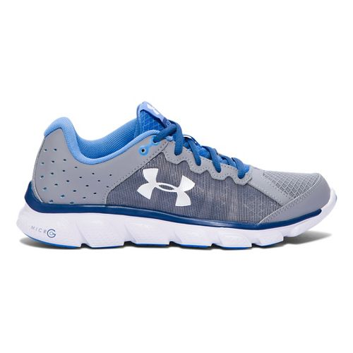 Womens Under Armour Micro G Assert 6 Running Shoe - Steel/Heron 7.5