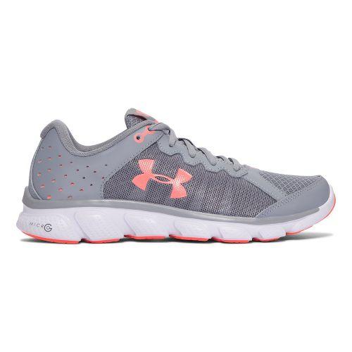Womens Under Armour Micro G Assert 6  Running Shoe - White/Orange 7