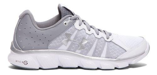 Womens Under Armour Micro G Assert 6  Running Shoe - White 6.5