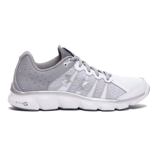 Womens Under Armour Micro G Assert 6 Running Shoe - White 9.5