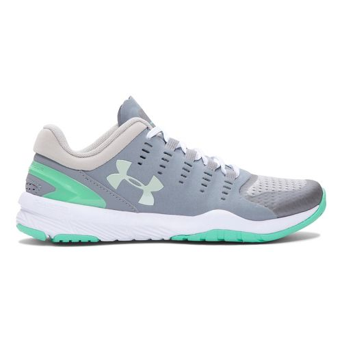 Womens Under Armour Charged Stunner TR Cross Training Shoe - Steel/Antifreeze 9.5