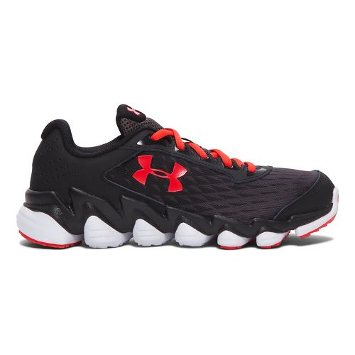 Kids Under Armour Micro G Spine Disrupt Running Shoe - Black/White 5Y